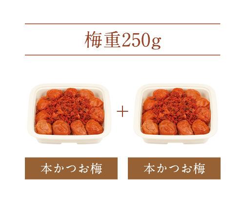 【梅重】 本かつお梅 250g×2