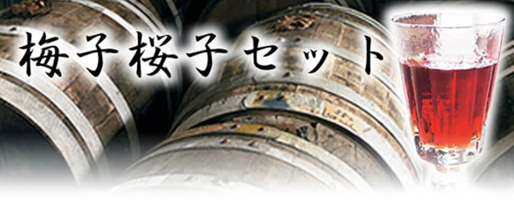 桜梅酒 梅子桜子セット