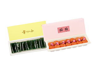 幸つつみと桜梅のセット 二段重セット(幸つつみ一段・桜梅一段)
