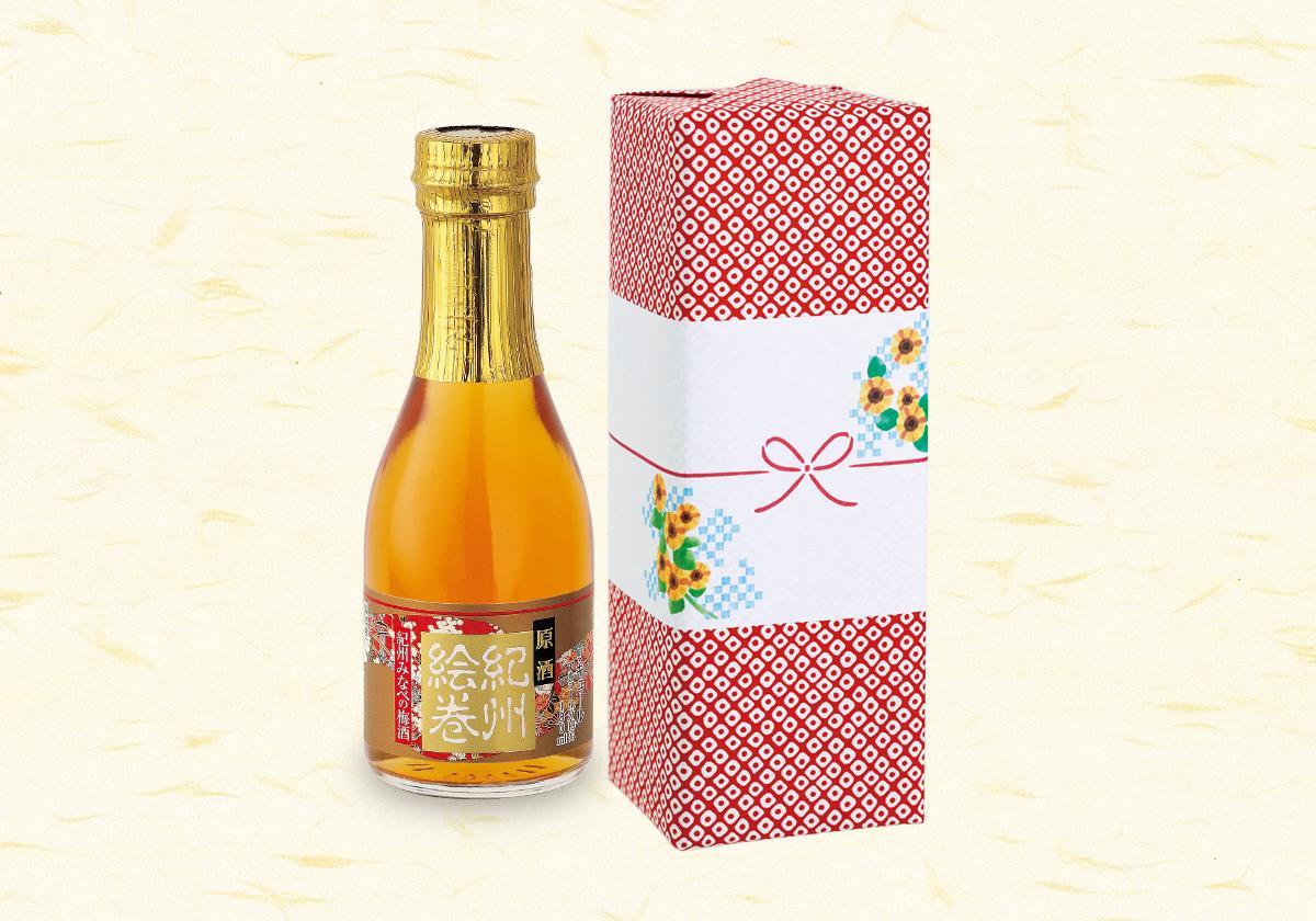 夏の小さな贈り物 原酒「梅酒 紀州絵巻」180ml